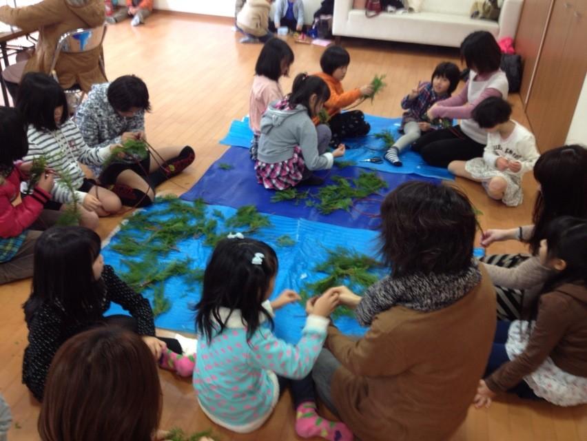 平成25年12月 クリスマスリース教室(那珂川町にて)