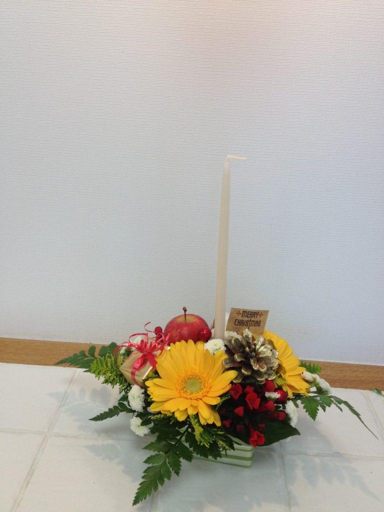 平成24年12月 クリスマスアレンジ教室(粕屋町にて)